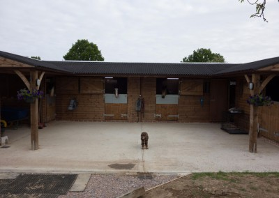 1.2m Roof overhang which benefits from the two optional feature posts