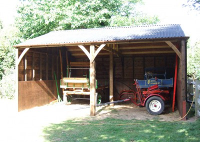 Bespoke cart lodge erected in East Sussex for a very popular horse drawn carriage operator. So if you are planning a wedding or special event, contact Castle Carriages!   www.castlecarriages.com