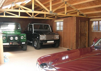 Internal view of bespoke Garage unit. (See previous photo)