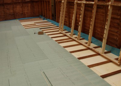 A large summerhouse under construction. All walls ceiling and floors can be insulated if required.