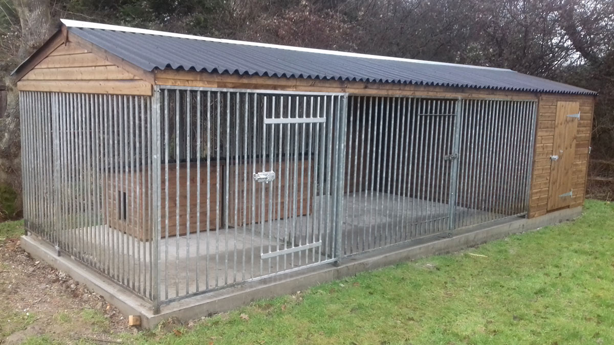 how to build a dog kennel run