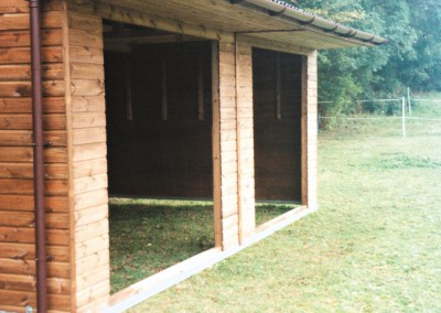 Why not include a roof overhang on your shelter? All overhangs are fully lined, maximising protection against inclement weather. Front guttering, perhaps to a water butt, will help keep the ground at the entrance much drier.