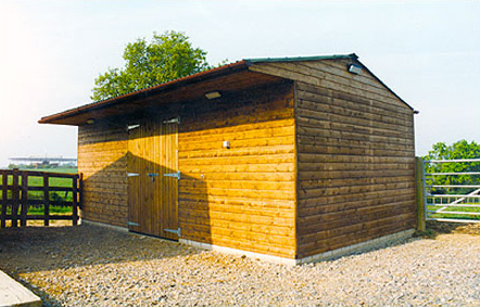 Freestanding haybarn, store or implement shed. This was erected for our local postlady at her yard.