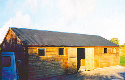 Purpose built bespoke Levade American barn. Erected in Wales for the local lady vicar.
