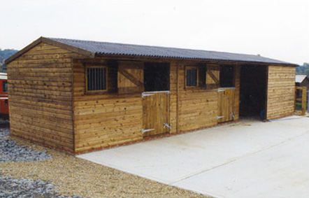 Two Levade stables and an extended front haybarn,  very good use of space.